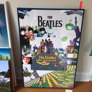 The Beatles yellow submarine framed